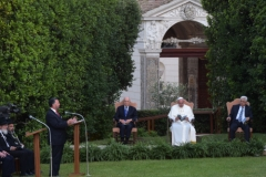 David Rosen with Pope Francis, President Shimon Peres and Preisdent Mahmoud Abbas - June 8, 2014